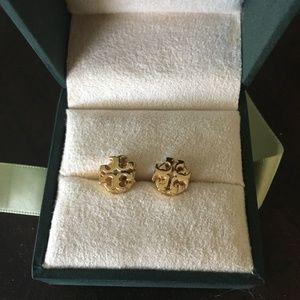 Tory Burch earrings - small gold logo